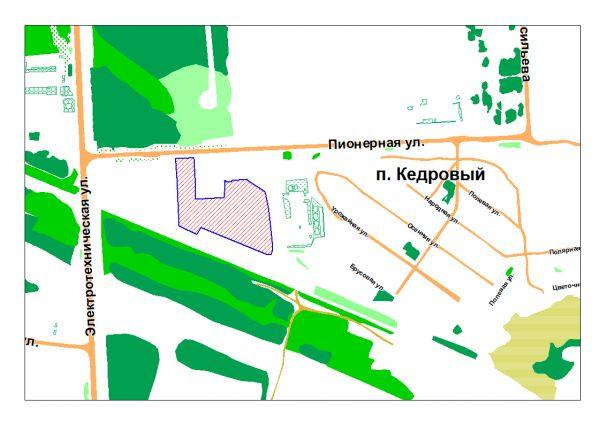 поселок Кедровый, улица Пионерная